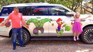 Настя и папа купили новую машину