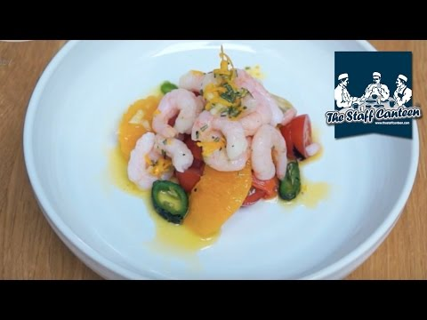 Prawn and Mediterranean inspired salad recipe