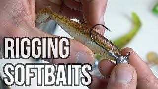 How to rig a softbait on to different hooks [jighead, offset hook, dropshot]