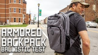 Armored Backpack And Body Armor    School Shooting Protection   Tactical Rifleman