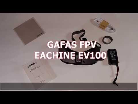 Unboxing - Gafas FPV Eachine EV100 720*540 5.8G 72CH