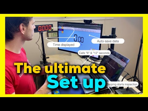 The ULTIMATE set up! - Stackmat connected to CSTimer and Display
