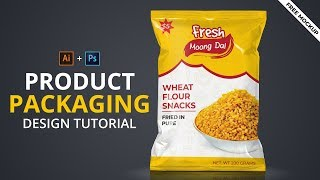 Product Packaging Design Tutorial In Illustrator | Illustrator 3D Packaging Design #Maxpoint_Hridoy