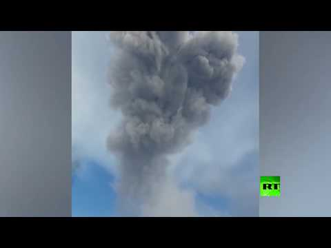 العرب اليوم - رماد بركاني يغطي إحدى بلدات جزر الكوريل