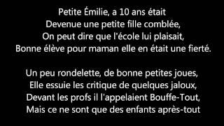 Keen'v   Petite Emilie (paroles).wmv