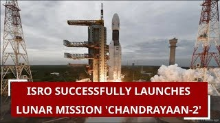 Indian Space Research Organisation (ISRO) launched its second moon mission Chandrayaan-2 on Monday at 2:43 PM. The mission seeks to explore the unchartered Lunar south pole by landing a rover and will be launched onboard GSLV-Mk0III-M1 from Sriharikota. The Rs 978 crore mission will be launched from the second launchpad at Satish Dhawan Space Centre, over 100km from Chennai. The launch had been delayed by a week due to a technical snag. #IndiaMoonMission #Chandrayaan2 #ISRO   About Channel: Zee News is a Hindi news channel with 24 hour coverage. Zee News covers breaking news, latest news, politics, entertainment and sports from India & World. ------------------------------------------------------------------------------------------------------------- Subscribe to our other network channels: Zee Business: https://goo.gl/fulFdi Dr. Subhash Chandra Show: https://goo.gl/fCugXC Daily News and Analysis: https://goo.gl/B8eVsD ------------------------------------------------------------------------------------------------------------- You can also visit us at: http://zeenews.india.com/   Like us on Facebook: https://www.facebook.com/ZeeNews   Follow us on Twitter: https://twitter.com/ZeeNews   Follow us on G+: https://plus.google.com/+Zeenews