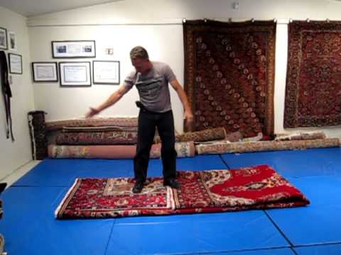 One Good Way To Fold A Large Rug For Transporting