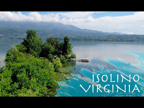 L'Isolino Virginia visto dal drone