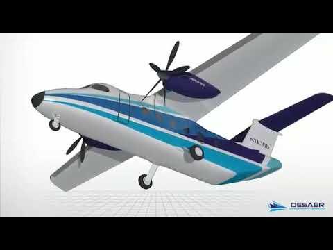 Ceiia y Desaer desarrollarán el avión bimotor ATL-100