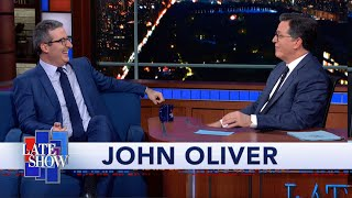 """Last Week Tonight"" host John Oliver confesses one of his most closely-held secrets to Stephen Colbert: the identity of his first childhood crush. #Colbert #Comedy #JohnOliver  Subscribe To ""The Late Show"" Channel HERE: http://bit.ly/ColbertYouTube For more content from ""The Late Show with Stephen Colbert"", click HERE: http://bit.ly/1AKISnR Watch full episodes of ""The Late Show"" HERE: http://bit.ly/1Puei40 Like ""The Late Show"" on Facebook HERE: http://on.fb.me/1df139Y Follow ""The Late Show"" on Twitter HERE: http://bit.ly/1dMzZzG Follow ""The Late Show"" on Google+ HERE: http://bit.ly/1JlGgzw Follow ""The Late Show"" on Instagram HERE: http://bit.ly/29wfREj Follow ""The Late Show"" on Tumblr HERE: http://bit.ly/29DVvtR  Watch The Late Show with Stephen Colbert weeknights at 11:35 PM ET/10:35 PM CT. Only on CBS.  Get the CBS app for iPhone & iPad! Click HERE: http://bit.ly/12rLxge  Get new episodes of shows you love across devices the next day, stream live TV, and watch full seasons of CBS fan favorites anytime, anywhere with CBS All Access. Try it free! http://bit.ly/1OQA29B  --- The Late Show with Stephen Colbert is the premier late night talk show on CBS, airing at 11:35pm EST, streaming online via CBS All Access, and delivered to the International Space Station on a USB drive taped to a weather balloon. Every night, viewers can expect: Comedy, humor, funny moments, witty interviews, celebrities, famous people, movie stars, bits, humorous celebrities doing bits, funny celebs, big group photos of every star from Hollywood, even the reclusive ones, plus also jokes."