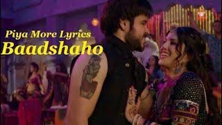 Piya More Song Lyrics | English Translation   - YouTube