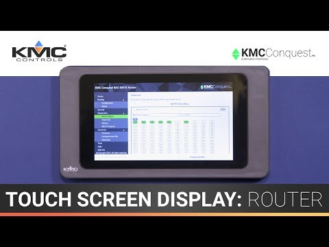 7″ Touch Screen Display: Router