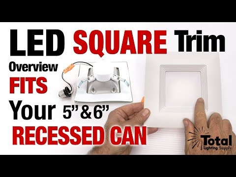 Overview of our LED Square Trim Module fits Recessed Cans 5
