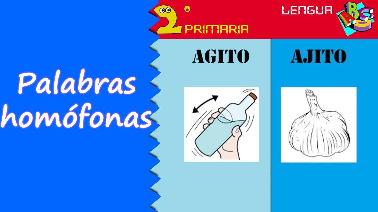 Lengua Castellana. 2º Primaria. Tema 12. Las palabras homófonas