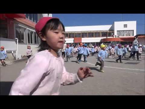 笠間市 ともべ幼稚園「最後の3分間マラソン」