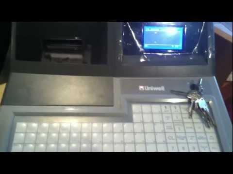 Uniwell EX 575F Registrieren und Berichte