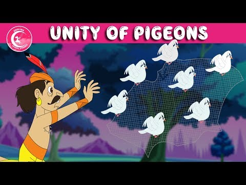 The Hunter And the Pigeons Story | Unity Is Strength