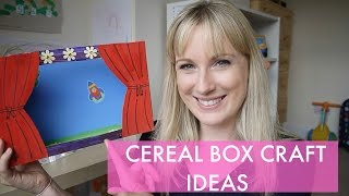 THREE CRAFT IDEAS WITH A CEREAL BOX FOR KIDS!