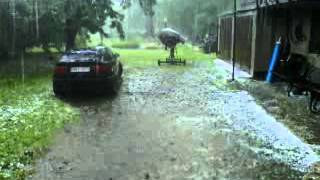 preview picture of video 'burza 3 lipca 2012 czechowice-dziedzice'