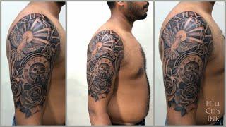 Rose + Clock Tattoo