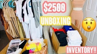 UNBOXING $2500 INVENTORY | HUGE INVENTORY HAUL |  CLOTHING BOUTIQUE INVENTORY | ENTREPRENEUR LIFE
