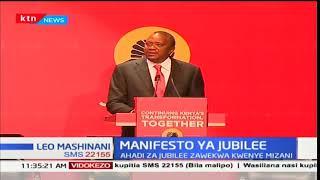 Ahadi za serikali ya Jubilee kwanzia mwaka wa 2013 na 2017
