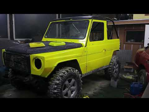 1980's Mercedes Benz G Class Building Offroad Tuning In Mongolia 2017