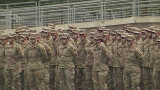 Friends, family say goodbye to Texas National Guard soldiers deploying overseas