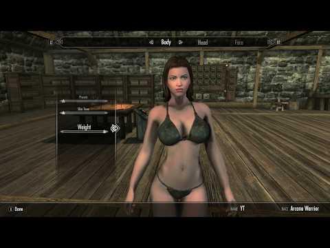 Skyrim Special Edition Mod Review BBP Sevenbase Bombshell Body w/ BIkini
