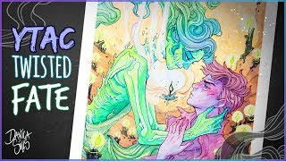 Twisted Fate • YTAC Grimms Fairy Tale • Watercolor Painting Process