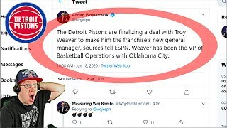 KrispyFlakes Reacts To The Detroit Pistons Hiring Troy Weaver As New General Manager