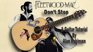 Don't Stop - Fleetwood Mac - Acoustic Guitar Lesson (Easy - Detune by 2 frets)