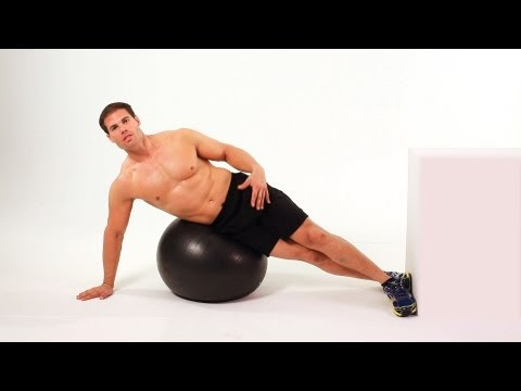 How to Do Side Crunch on Exercise Ball | Ab Workout