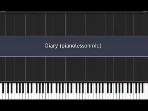 Moni Lessons - Alicia Keys Diary Piano with click. Intermediate Level.