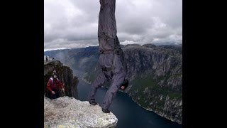 Would you do a hand stand on the edge of a 3,000ft cliff?