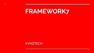 framework 7 setup for beginners 2019