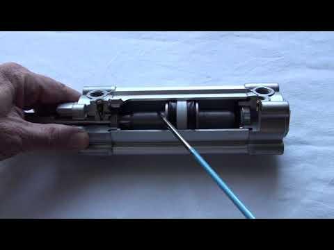 come è fatto un cilindro pneumatico a doppio effetto
