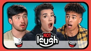 YouTubers React To Try to Watch This Without Laughing Or Grinning #28