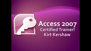 Access 2007: Query Unique Values Or Records