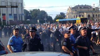 Скандальное шествие польских фанатов в Киеве