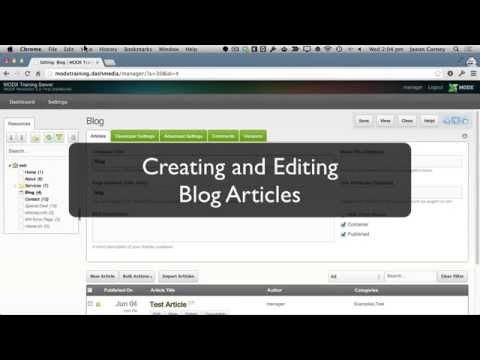 Creating and Editing Blog Articles