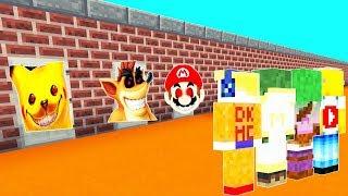 😰 ¡NO ELIJAS LA PUERTA EQUIVOCADA EN MINECRAFT! Pikachu.exe Crash.exe y Mario.exe