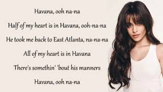 Havana lyrics with background music 🎵