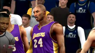 NBA 2K16 Los Angeles Lakers Vs Utah Jazz Gameplay PS3 HD