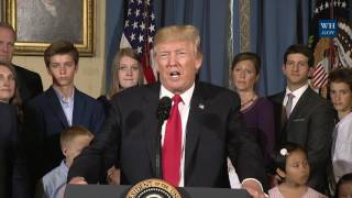 President Trump Gives a Statement on Healthcare