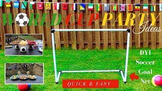 DIY Soccer Goal | World Cup DIY Party Ideas | Dollar Tree DIY Party Decor