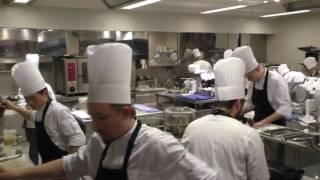 The busy kitchen at Michelin star restaurant Steirereck