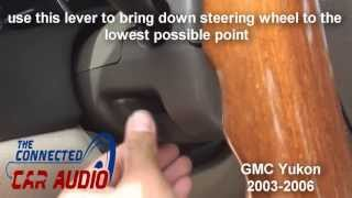 how to remove factory stereo GMC yukon 2003 - 2006