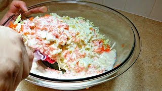 How to Make Coleslaw | Homemade Coleslaw Recipe | KFC Style Coleslaw