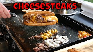 Cheesesteaks on the Blackstone Griddle